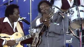 B.B. King performs at Farm Aid on September 22, 1985