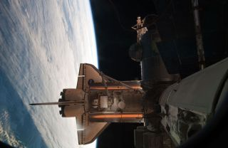 Atlantis Shuttle Crew Prepares to Leave Space Station