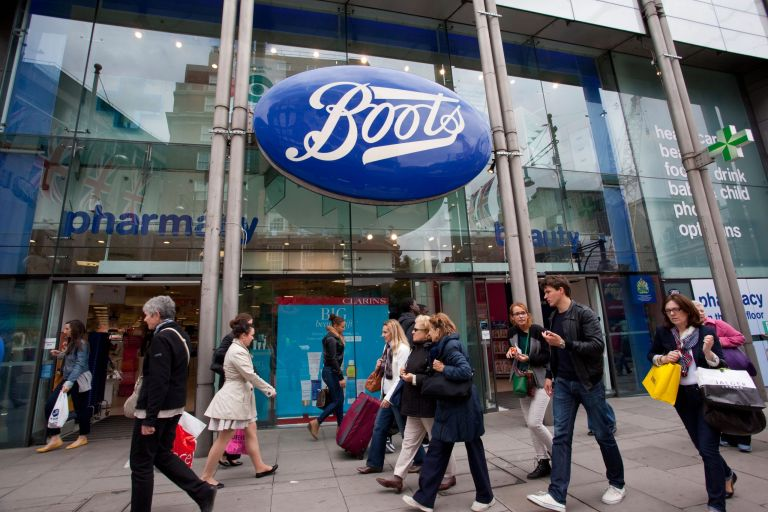 outside of a boots store - boots stores closing down