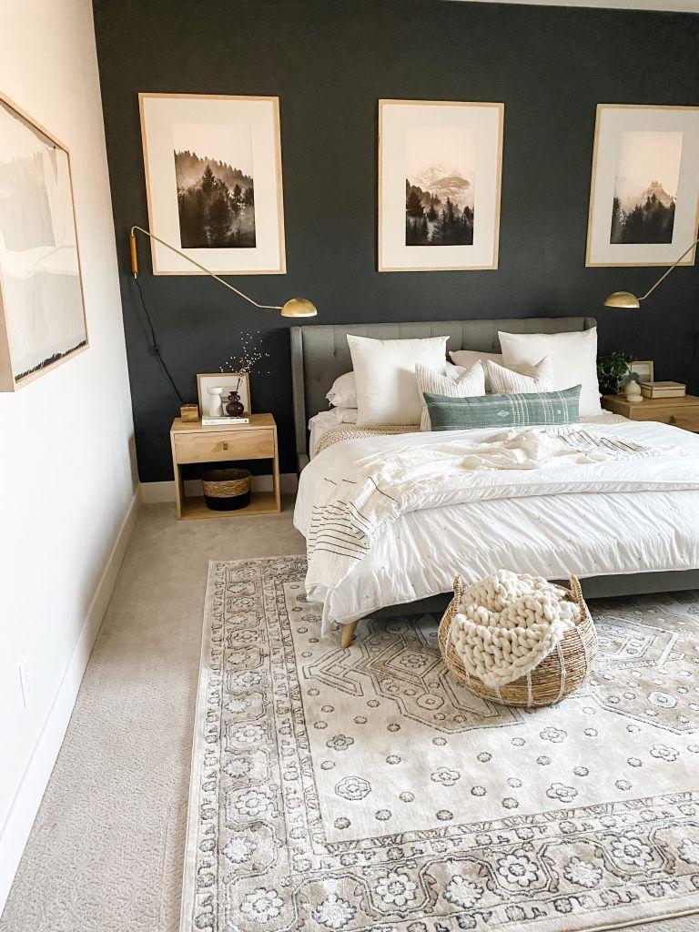DIY nightstand in a modern bedroom