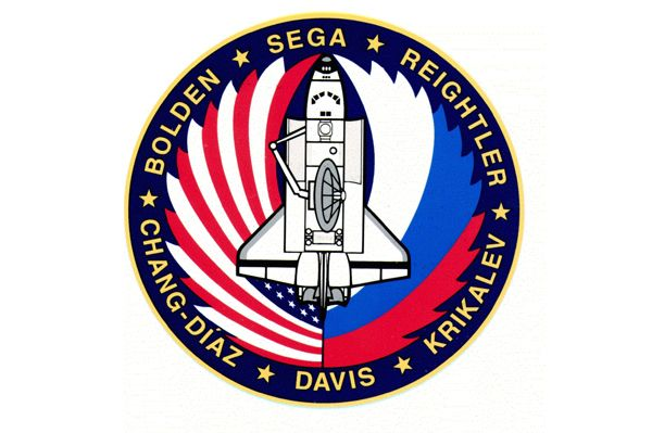 NASA COLUMBIA II STS-58 SPACE LAB LIFE SCIENCES DECAL  4  INCHES  MEDICAL WOLF