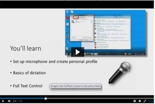 Video Tutorial: Dragon NaturallySpeaking 13 Training