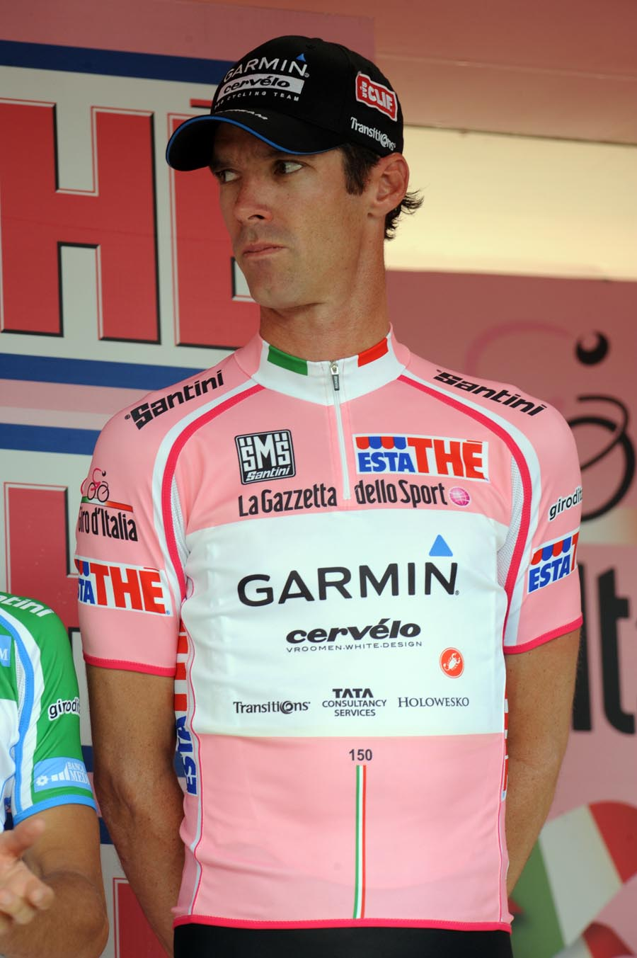 David Millar on podium, Giro d