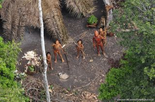 An uncontacted tribe from above