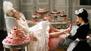 Kirsten Dunst as Marie Antoinette in the 2006 movie.