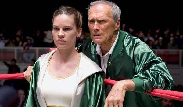 Million Dollar Baby Hillary Swank Clint Eastwood ready for the fight