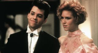Jon Cryer and Molly Ringwald star in 'Pretty in Pink,' written by John Hughes.