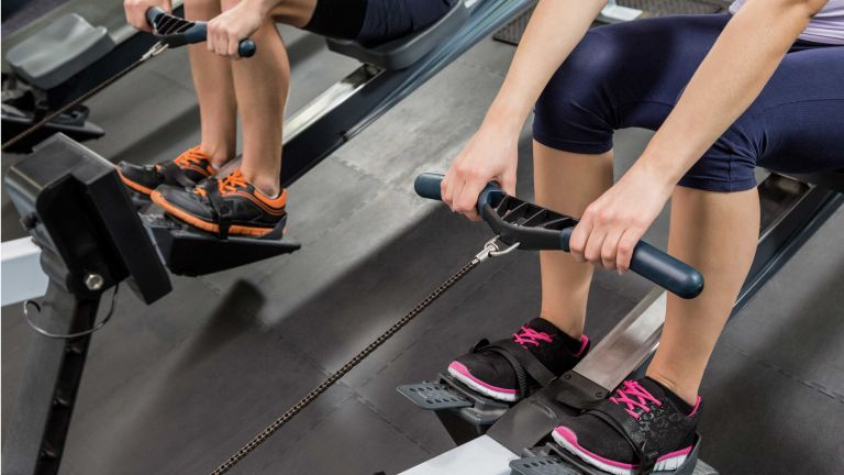 Best rowing machines: two machines in use