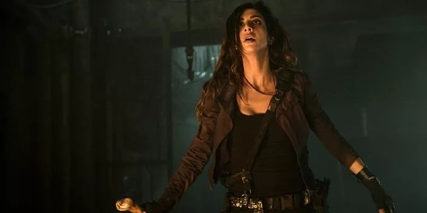 Dana DeLorenzo in Ash vs. Evil Dead, essentially her Wonder Woman audition tape