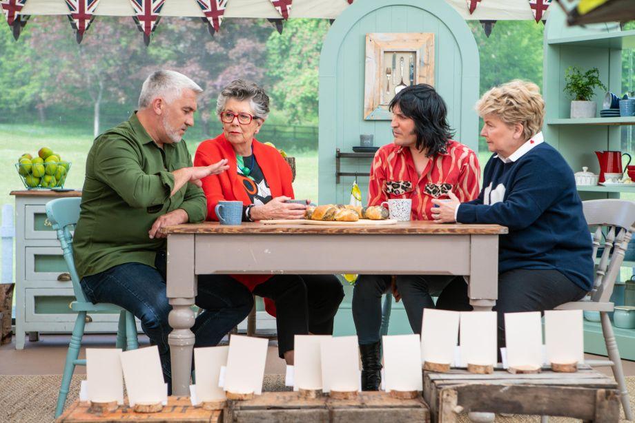 Paul, Prue, Noel and Sandi on The Great British Bake Off