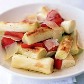 Roasted leeks and red peppers-roasted vegetable recipes-new recipes-recipe ideas-woman and home