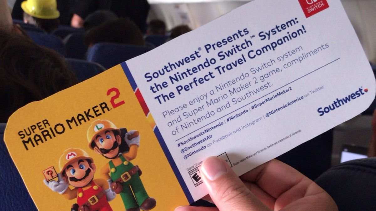 Mamma mia! Nintendo just gave a free Mario Maker 2 Switch bundle to every passenger on this flight