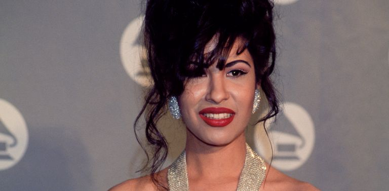 Selena (Quintanilla) receives Grammy Award at The 36th Annual Grammy Awards on March 1, 1994 in New York, New York at Radio City Music Hall.