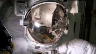 Parmitano's Water Filled Spacesuit Helmet