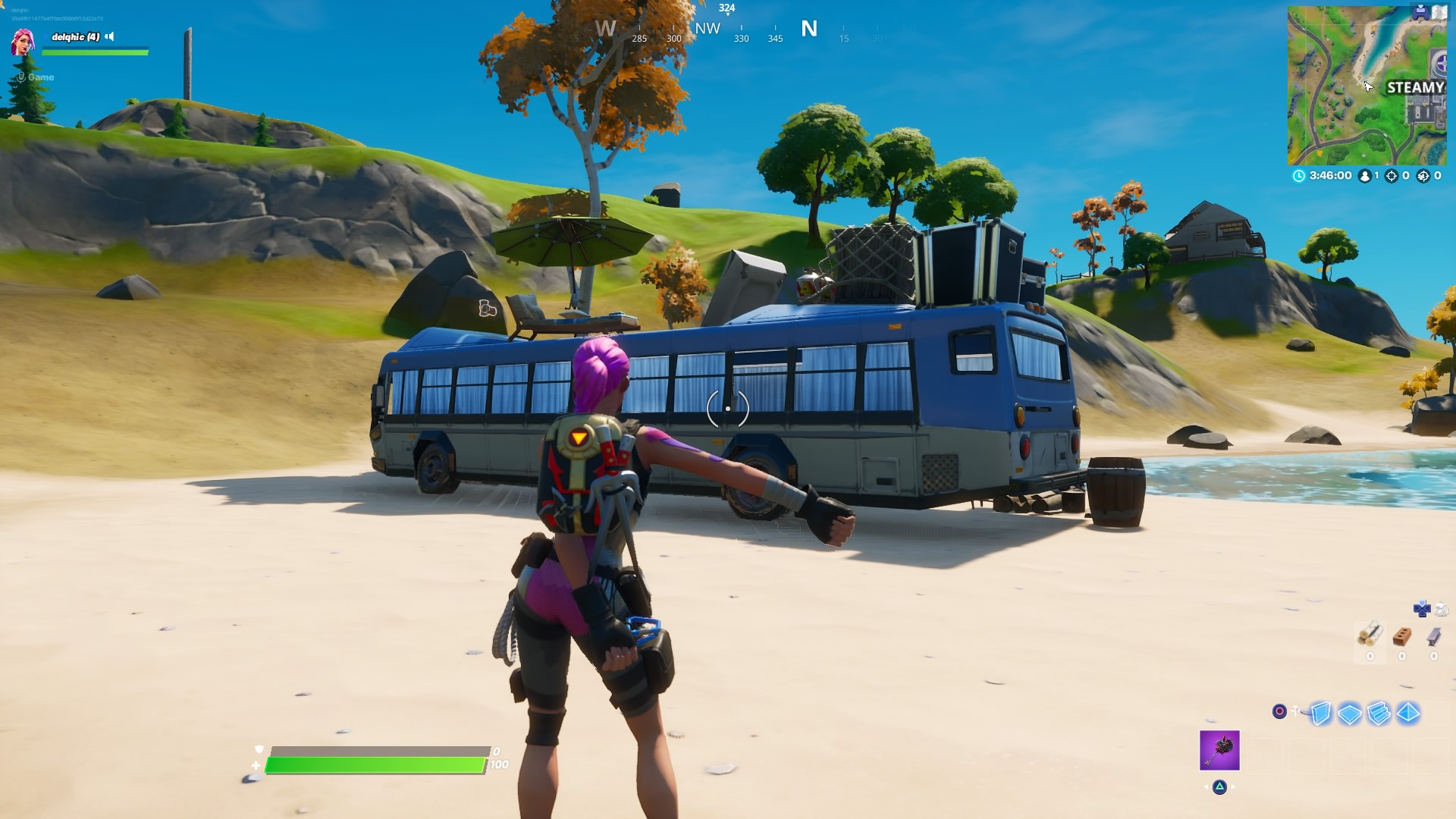 Byba: Fortnite Dance At Rainbow Rentals Beach Bus And Lake ...