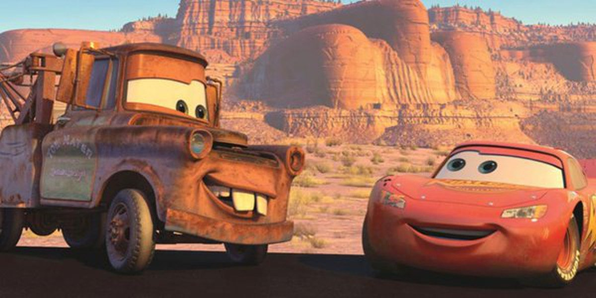 Tater and Lightening McQueen in Cars