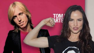 Juliette Lewis and the artwork for Tom Petty's Damn The Torpedos