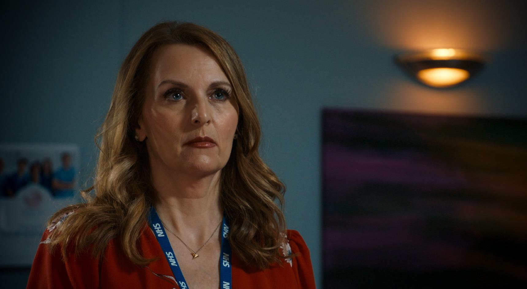 Debra Stephenson plays Jeni Sinclaire in Holby