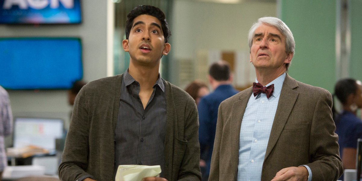 Dev Patel and Sam Waterston on The Newsroom