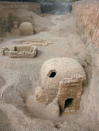 An ancient cemetery - silk road