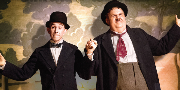 Steve Coogan and John C. Reilly as Stan Laurel and Oliver Hardy on the poster for Stan & Laurel