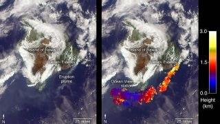 Kilauea volcano ash plume May 6, 2018