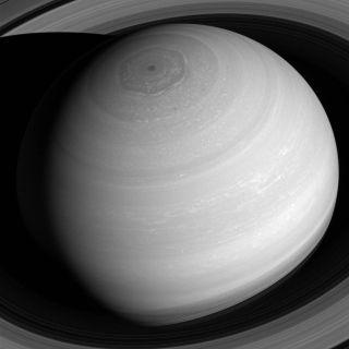 Cassini View of Saturn Rings, Vortex