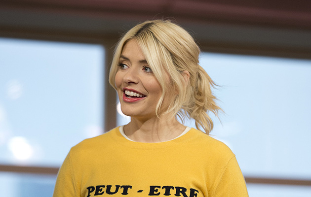 Holly Willoughby dressed in yellow on This Morning