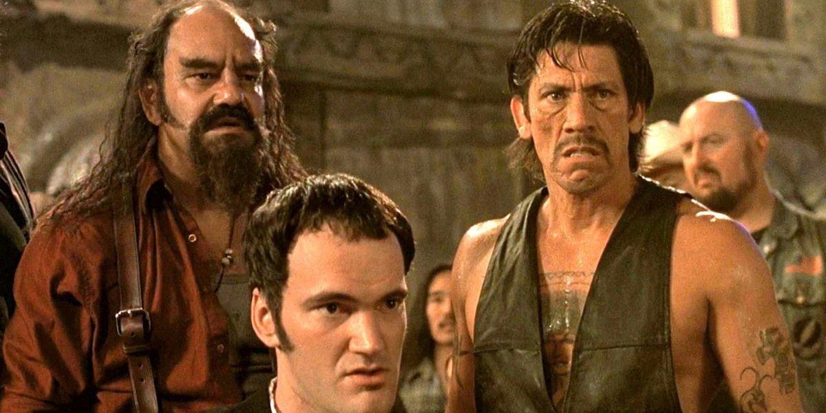 Quentin Tarantino and Danny Trejo in From Dusk Till Dawn