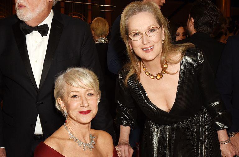 Helen Mirren Meryl Streep adorable moment golden globes