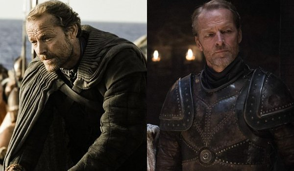 Game of Thrones Jorah Mormont Then and Now