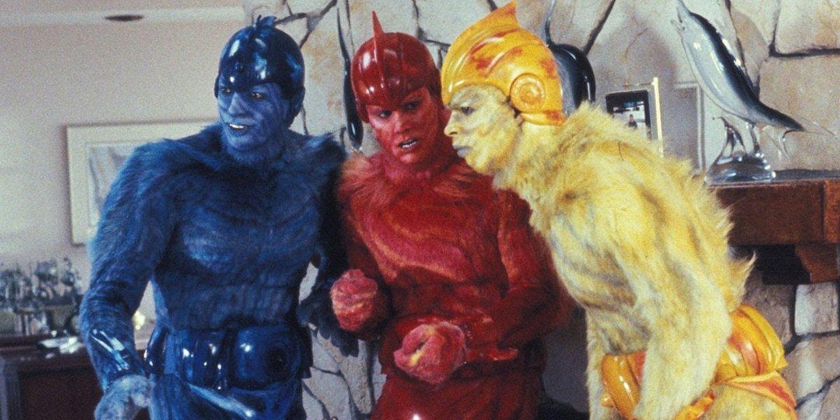 Jeff Goldblum, Jim Carrey, and Damon Wayans in Earth Girls Are Easy