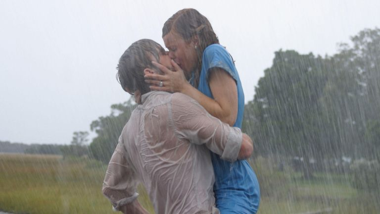 A still from one of the best movie sex scenes featured in The Notebook