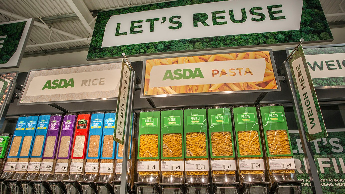 Asda sustainability store, refill station