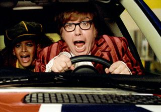 Mike Myers and Beyoncé Knowles hit the road