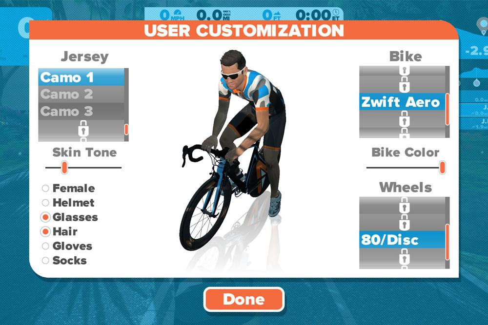 Zwift giver dig masser af muligheder for at få din avatar til at se ret professionel ud.