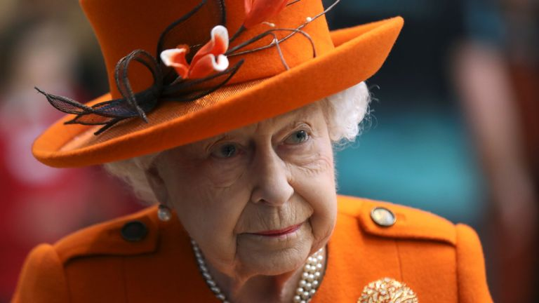 Britain's Queen Elizabeth II looks on during a visit to the Science Museum on March 07, 2019 in London, England