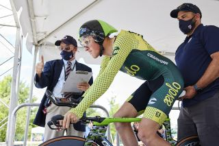 Gage Hecht (Aevolo Cycling ) at the USA Cycling Pro Road Championships 2021 time trial