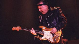 Dick Dale performs at the House of Blues in Los Angeles, California on February 4, 1997.