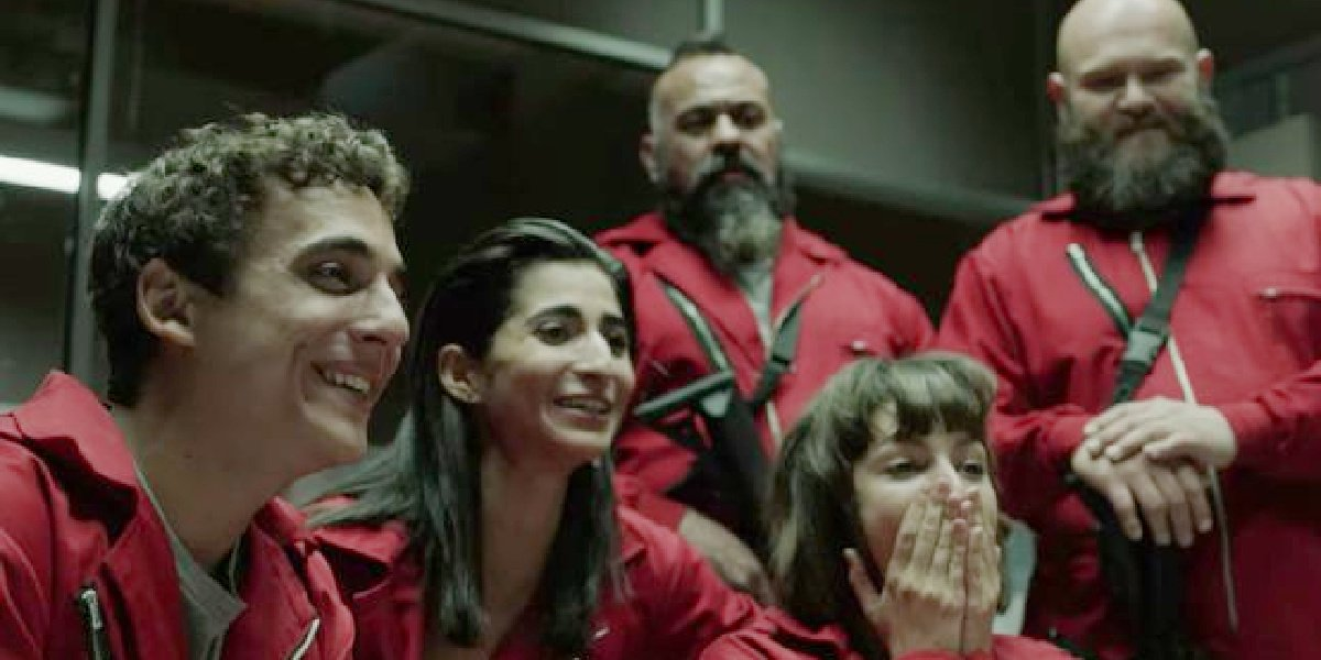 """Some of the cast of the Netflix series, Money Heist, otherwise known as """"El Casa de Papel"""""""