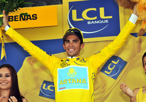 Contador, Tour de France 2009, stage 19