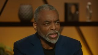 LeVar Burton talking to Trevor Noah about his Jeopardy guest host stint and his career on The Daily Show