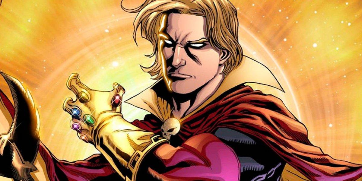 Adam Warlock wielding the Infinity Gauntlet