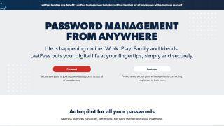 LastPass' homepage