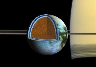 Saturn Moon Titan's Ocean Super Salty