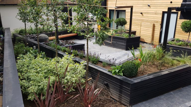 accessible garden design: wheelchair friendly layout and raised beds