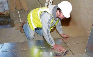 Kingspan floor insulation being laid