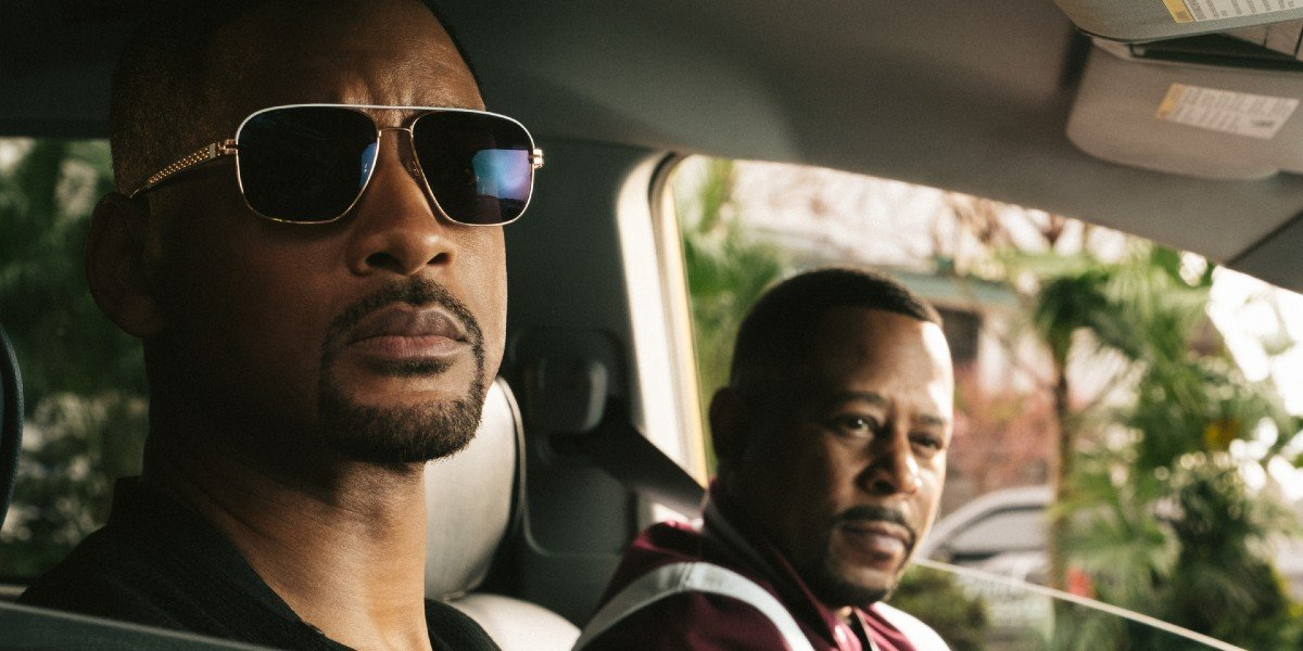 Will Smith, Martin Lawrence in a car in Bad Boys For Life