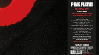 A picture of the Pink Floyd vinyl reissue of The Final Cut