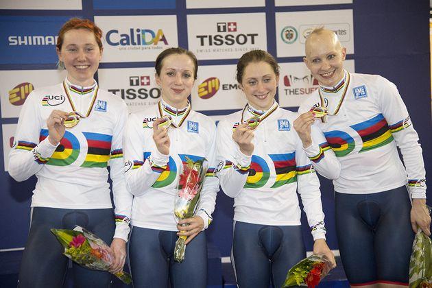 Great Britain women's team pursuit world champions 2014